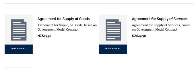 Agreements for Goods and Services