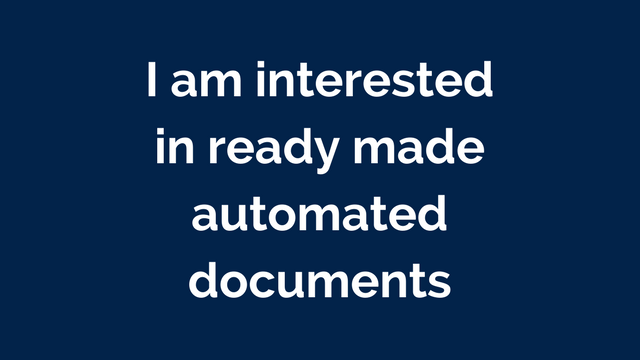 Ready Made Automated Documents