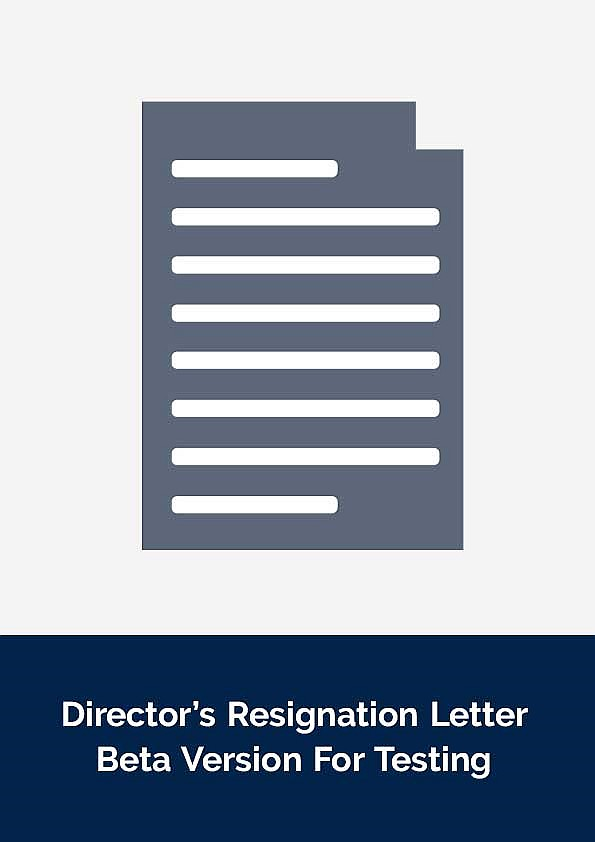 Documents - Director\'s Resignation Letter - Beta