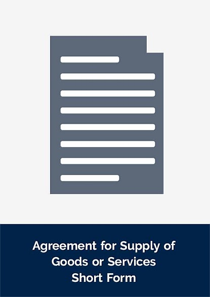 Agreement for Supply of Goods or Services