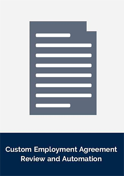 Custom Employment Agreement Review and Automation