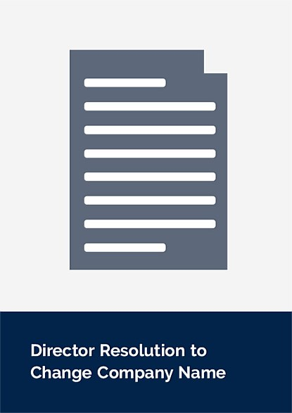 Director Resolution to Change Company Name