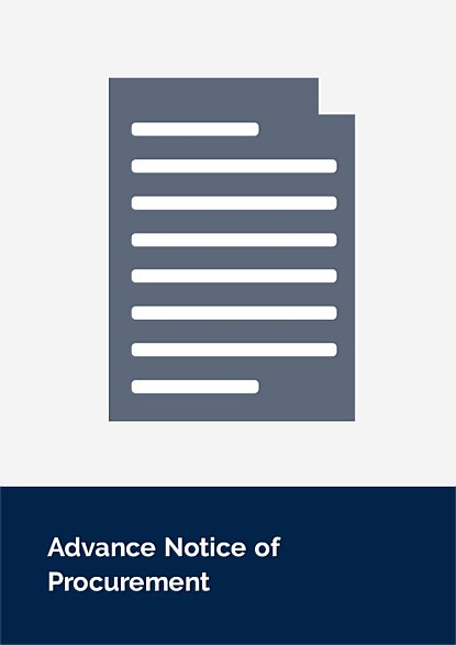 Advance Notice of Procurement