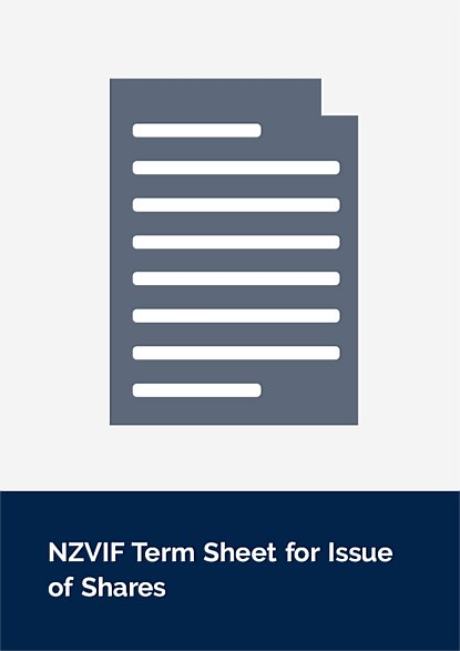 NZVIF Term Sheet for Issue of Shares
