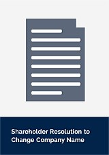 Shareholder Resolution to Change Company Name